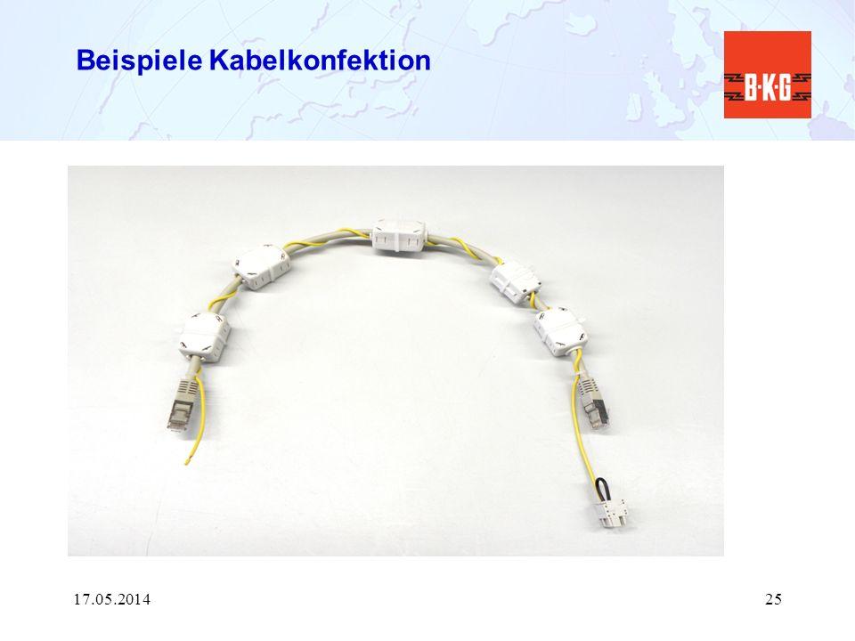 Beispiele Kabelkonfektion 17.05.201425