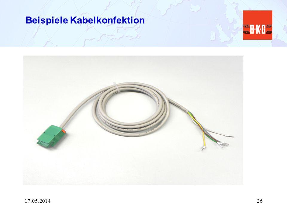 Beispiele Kabelkonfektion 17.05.201426