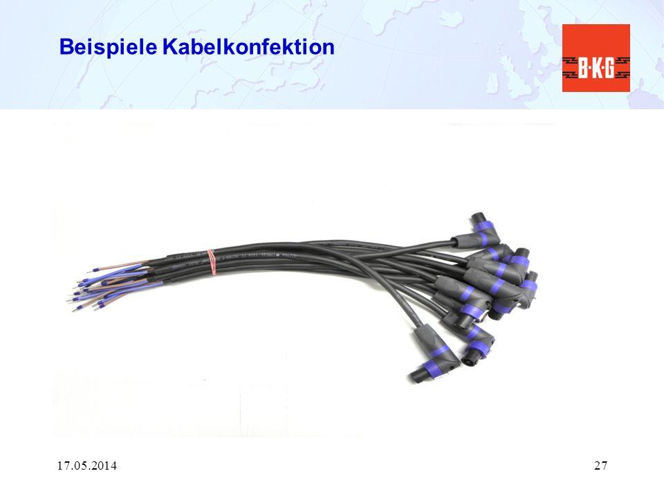 Beispiele Kabelkonfektion 17.05.201427