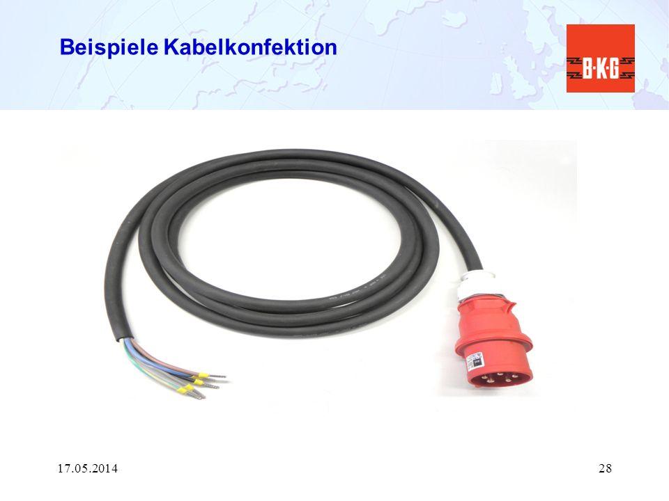 Beispiele Kabelkonfektion 17.05.201428