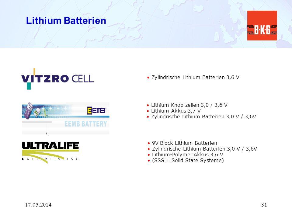 Lithium Batterien Zylindrische Lithium Batterien 3,6 V 9V Block Lithium Batterien Zylindrische Lithium Batterien 3,0 V / 3,6V Lithium-Polymer Akkus 3,