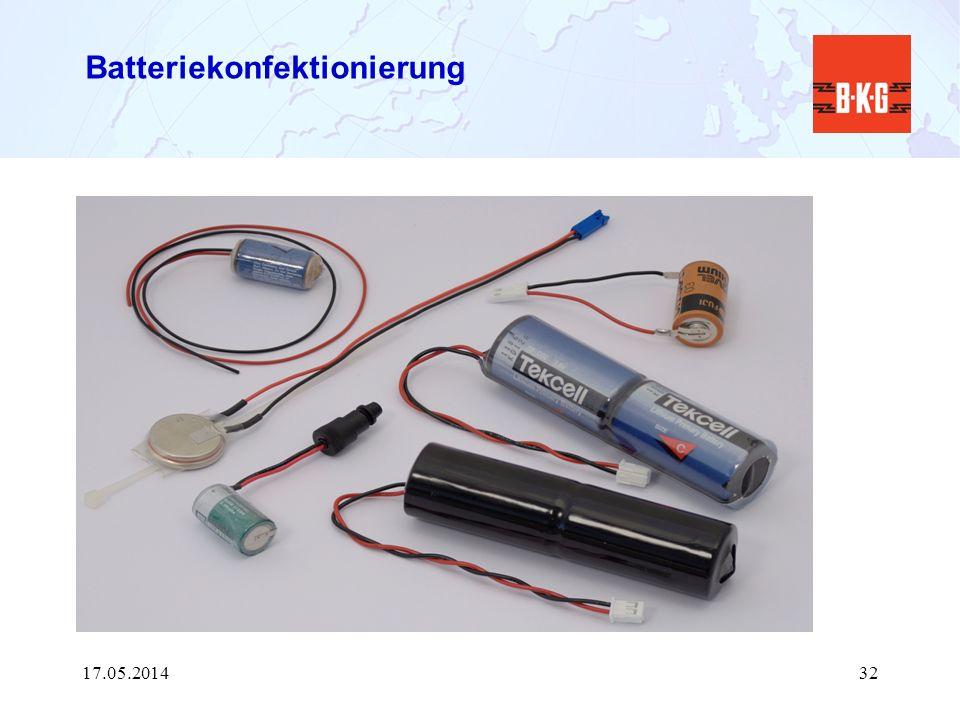Batteriekonfektionierung 17.05.201432