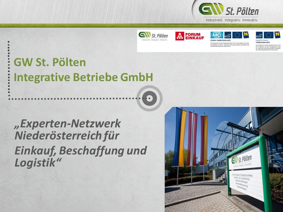 GW St. Pölten Integrative Betriebe GmbH Experten-Netzwerk Niederösterreich für Einkauf, Beschaffung und Logistik 1