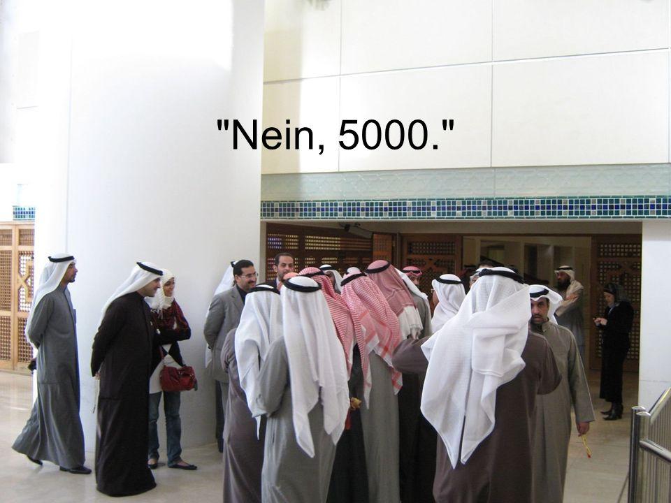 Nein, 5000.