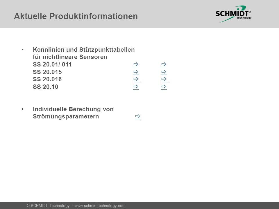 © SCHMIDT Technology · www.schmidttechnology.com Aktuelle Produktinformationen Kennlinien und Stützpunkttabellen für nichtlineare Sensoren SS 20.01/ 0