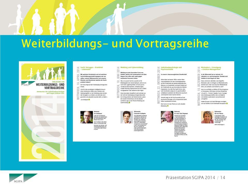 Präsentation SGIPA 2014 / 14 Weiterbildungs- und Vortragsreihe
