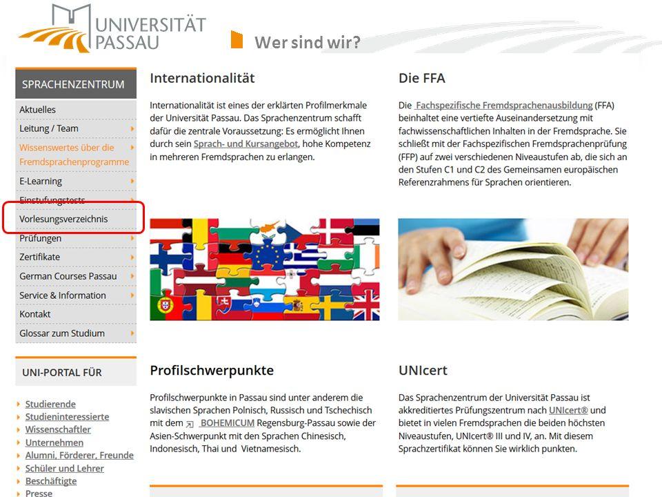 sprachenzentrum@uni-passau.de Wer sind wir?