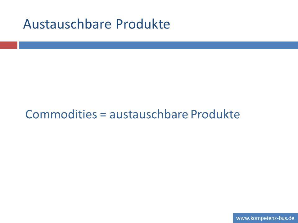 www.kompetenz-bus.de Austauschbare Produkte Commodities = austauschbare Produkte