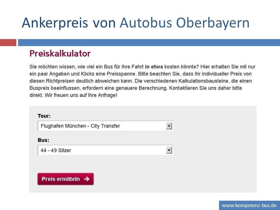www.kompetenz-bus.de Ankerpreis von Autobus Oberbayern