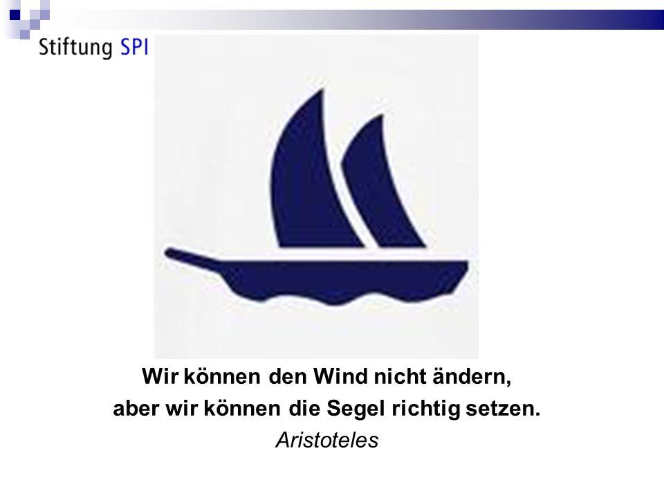 Wir können den Wind nicht ändern, aber wir können die Segel richtig setzen. Aristoteles