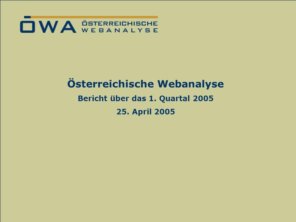 Das ÖWA-Verfahren zur Ermittlung der Online-Nutzung Mag. Nadja Vaskovich September 2004 Österreichische Webanalyse Bericht über das 1. Quartal 2005 25