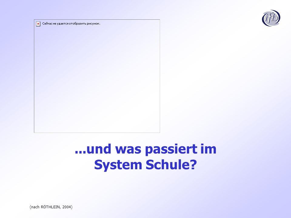 ...und was passiert im System Schule? (nach RÖTHLEIN, 2004)