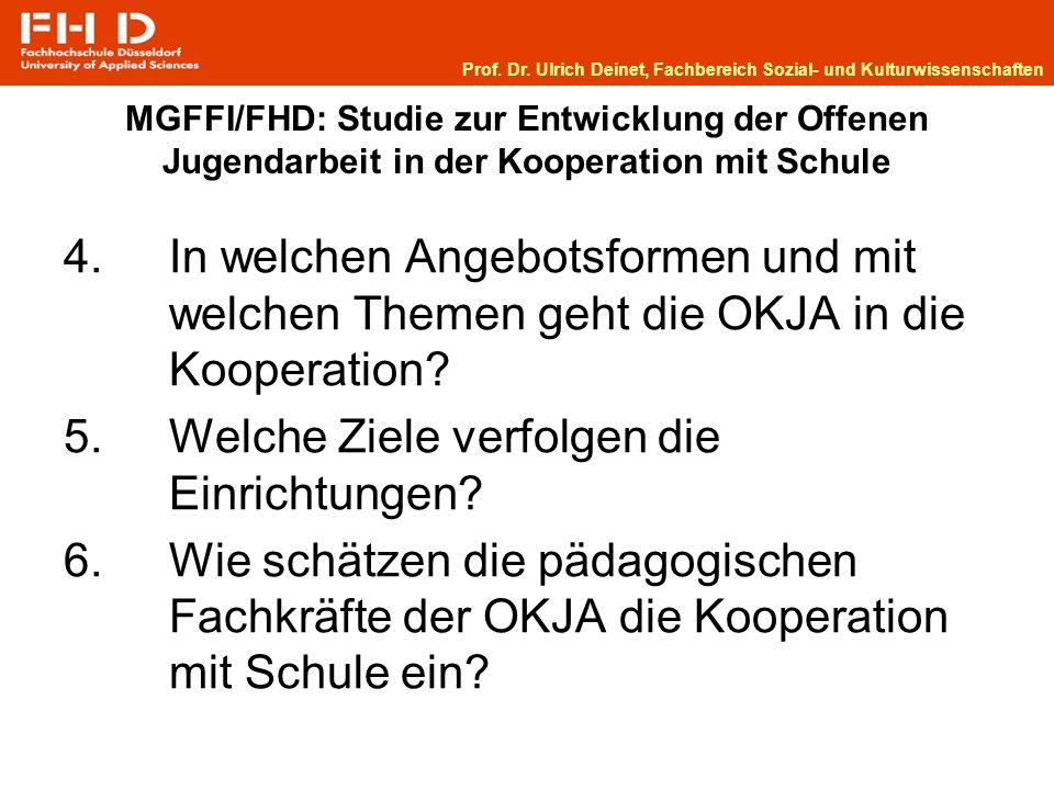 MGFFI/FHD: Studie zur Entwicklung der Offenen Jugendarbeit in der Kooperation mit Schule 4.
