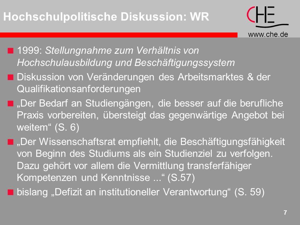 www.che.de 18 Fakten: Career Center an Universitäten
