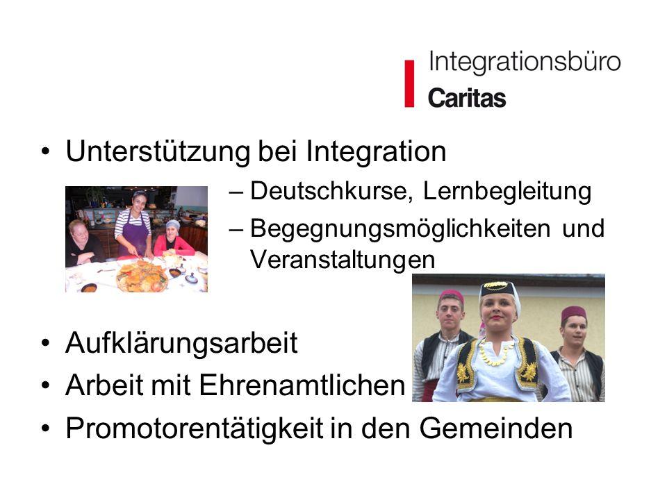 Unterstützung bei Integration –Deutschkurse, Lernbegleitung –Begegnungsmöglichkeiten und Veranstaltungen Aufklärungsarbeit Arbeit mit Ehrenamtlichen P