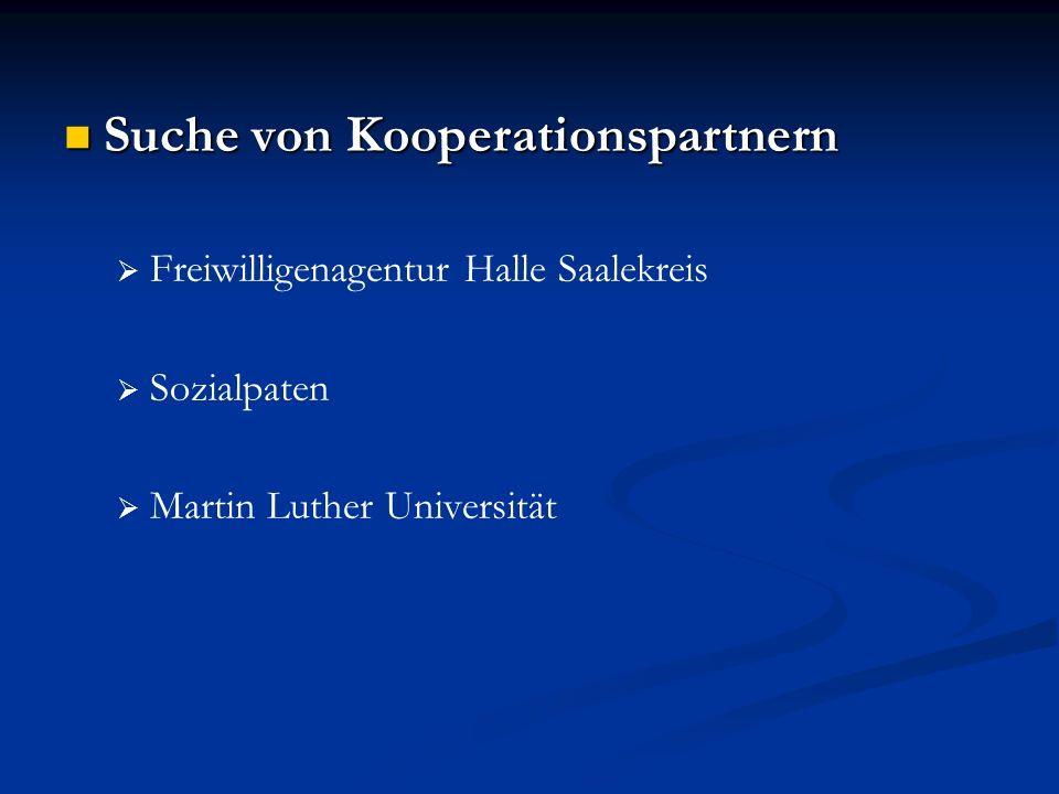 Suche von Kooperationspartnern Suche von Kooperationspartnern Freiwilligenagentur Halle Saalekreis Sozialpaten Martin Luther Universität