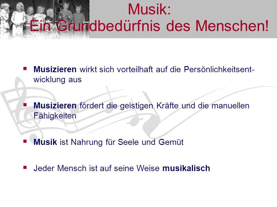 Unterrichtsangebote (1) Musikgarten (für 1 ½- bis 3-jährige Kinder) Jedes Kind bringt musikalische Anlagen mit auf die Welt.