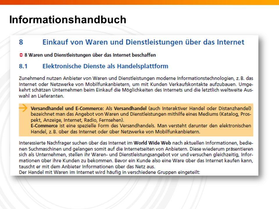 Informationshandbuch - Anhang