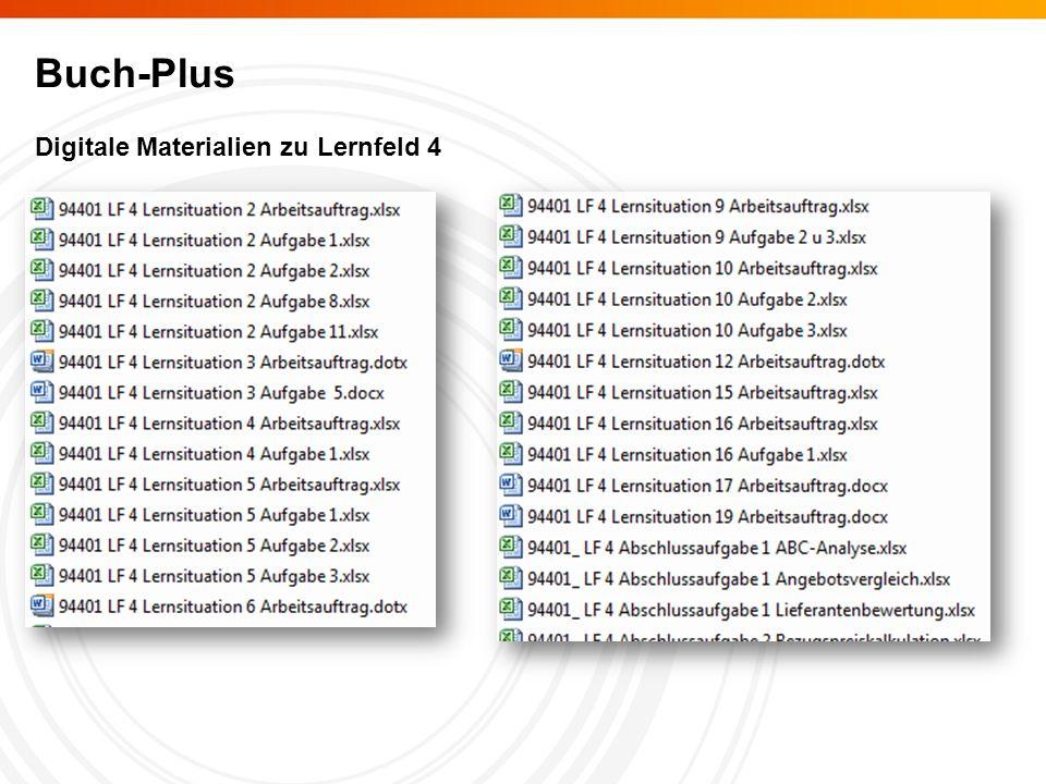 Buch-Plus Digitale Materialien zu Lernfeld 4