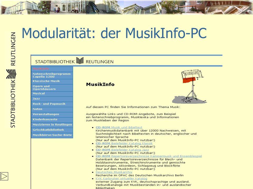 Modularität: der MusikInfo-PC