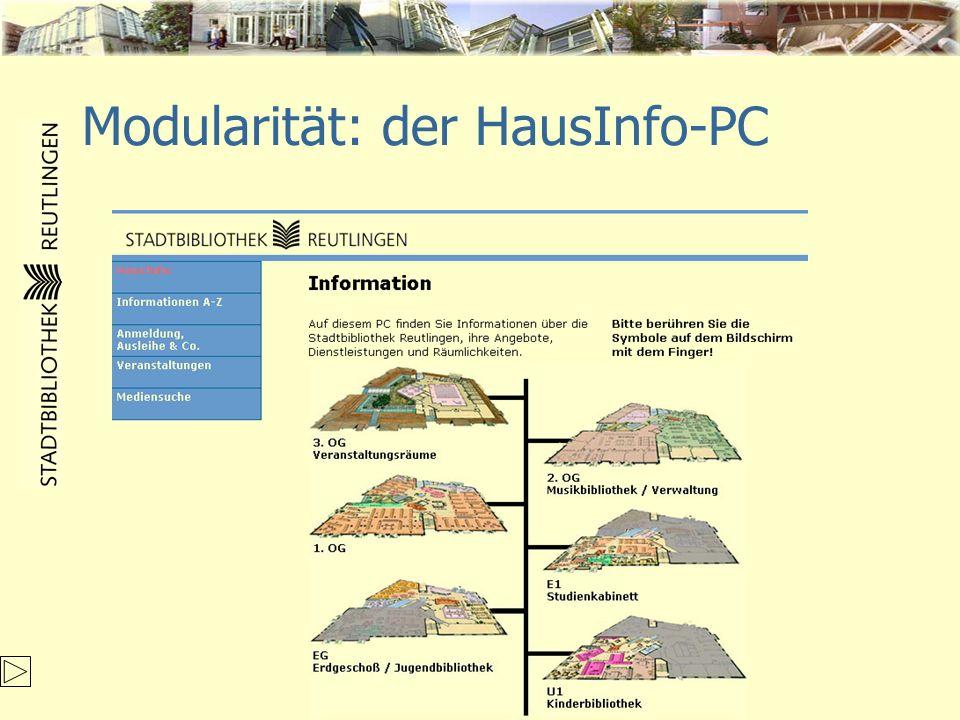 Modularität: der HausInfo-PC