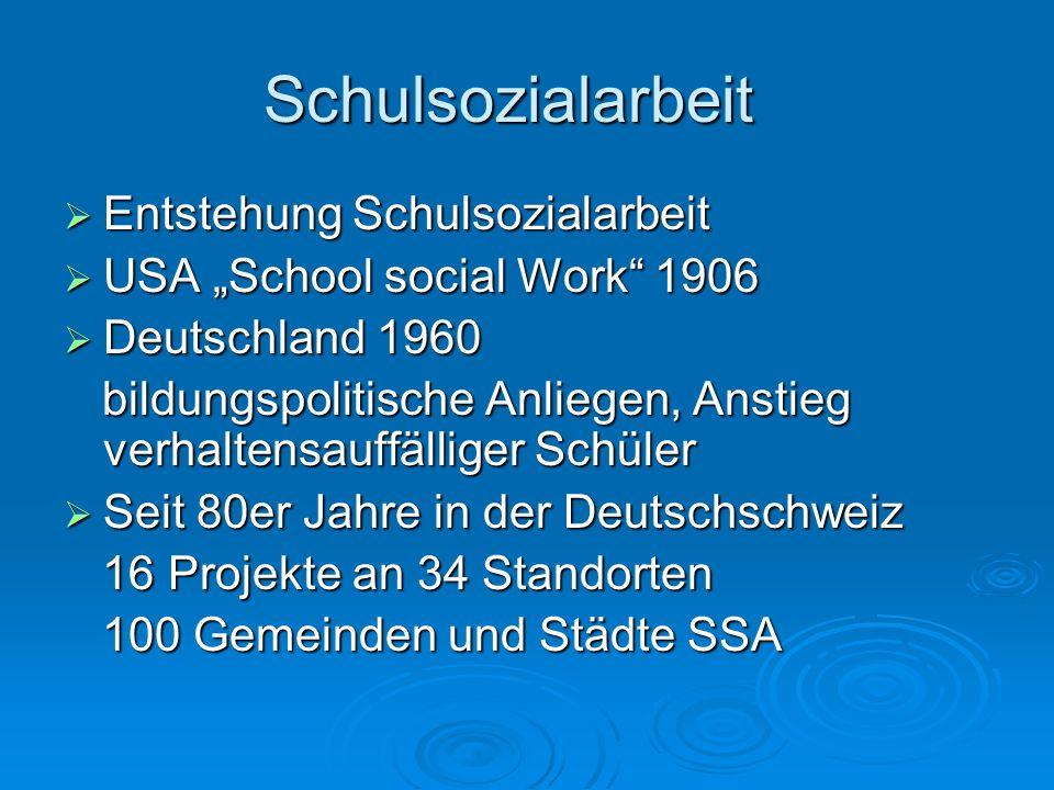 Schulsozialarbeit Entstehung Schulsozialarbeit Entstehung Schulsozialarbeit USA School social Work 1906 USA School social Work 1906 Deutschland 1960 D