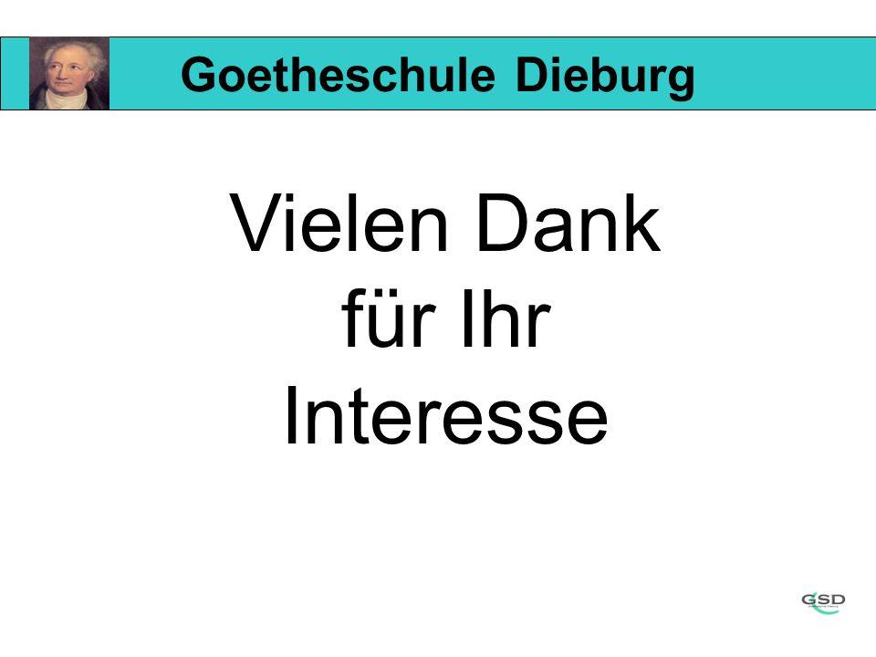 Goetheschule Dieburg Vielen Dank für Ihr Interesse