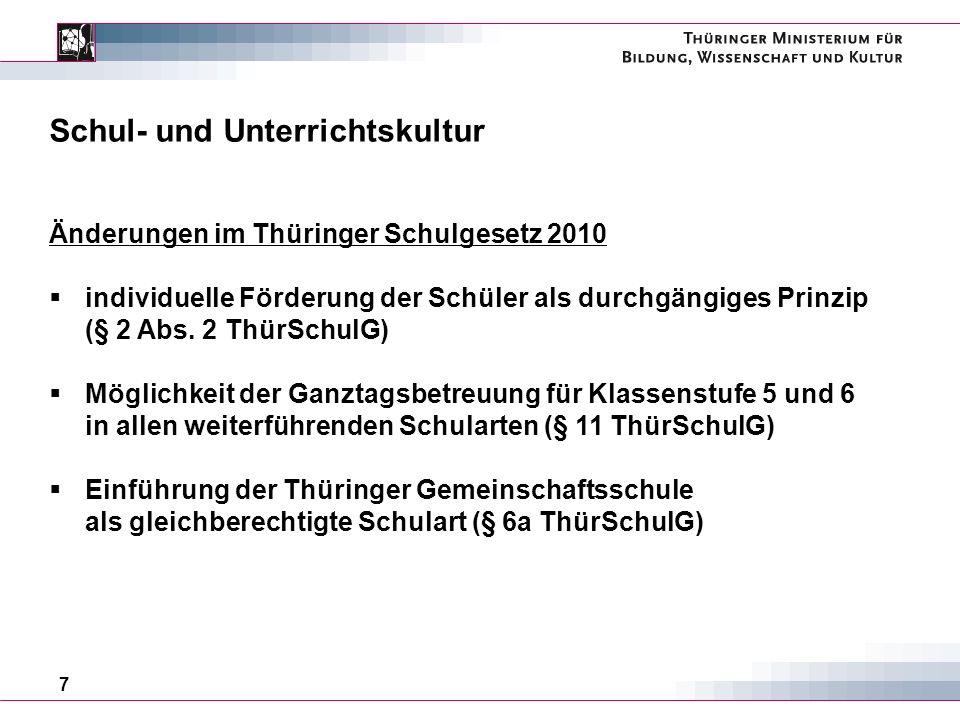 8 Schul- und Unterrichtskultur ThürSchulG § 2 Abs.