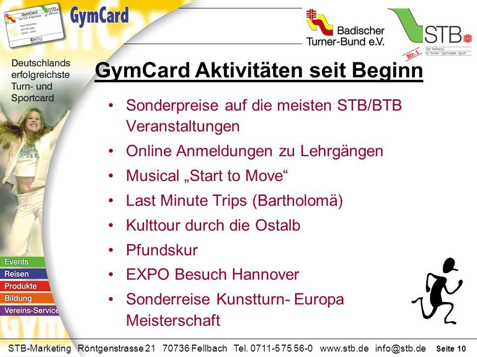 Seite 9 STB-Marketing Röntgenstrasse 21 70736 Fellbach Tel. 0711-5 75 56-0 www.stb.de info@stb.de Spezielles Programm in separaten Räumen: z.B. im Gym