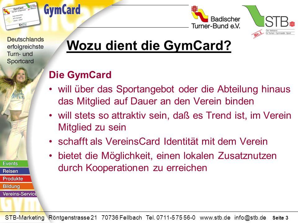 Seite 2 STB-Marketing Röntgenstrasse 21 70736 Fellbach Tel. 0711-5 75 56-0 www.stb.de info@stb.de Offizieller Hauptförderer der GymCard Partner der Gy