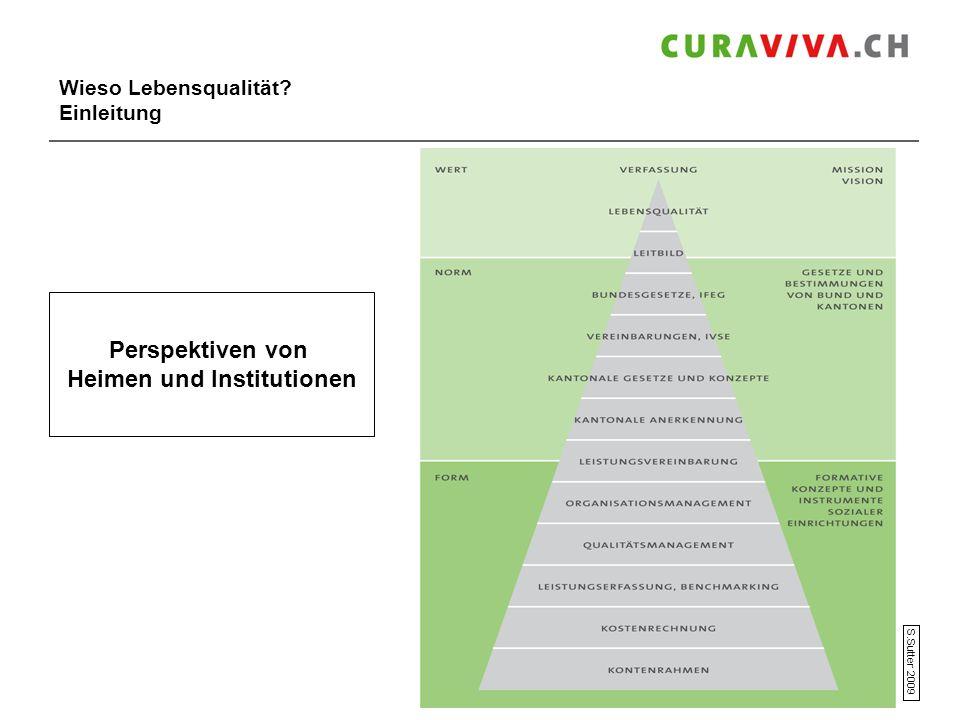 Wieso Lebensqualität? Einleitung Perspektiven von Heimen und Institutionen S.Sutter 2009