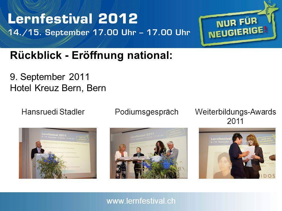 www.lernfestival.ch Rückblick - Eröffnung national: 9.