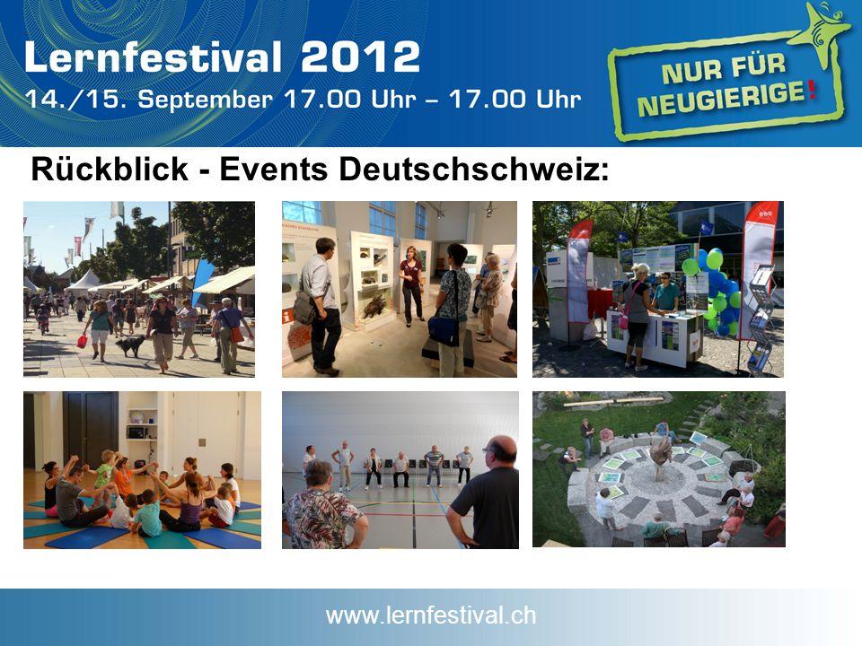 www.lernfestival.ch Rückblick - Events Deutschschweiz: