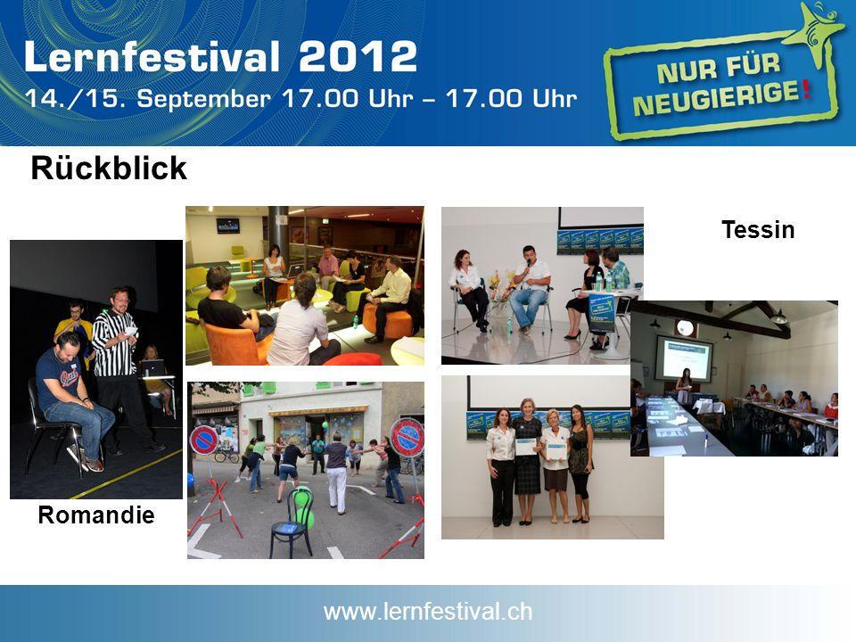 www.lernfestival.ch Rückblick Romandie Tessin