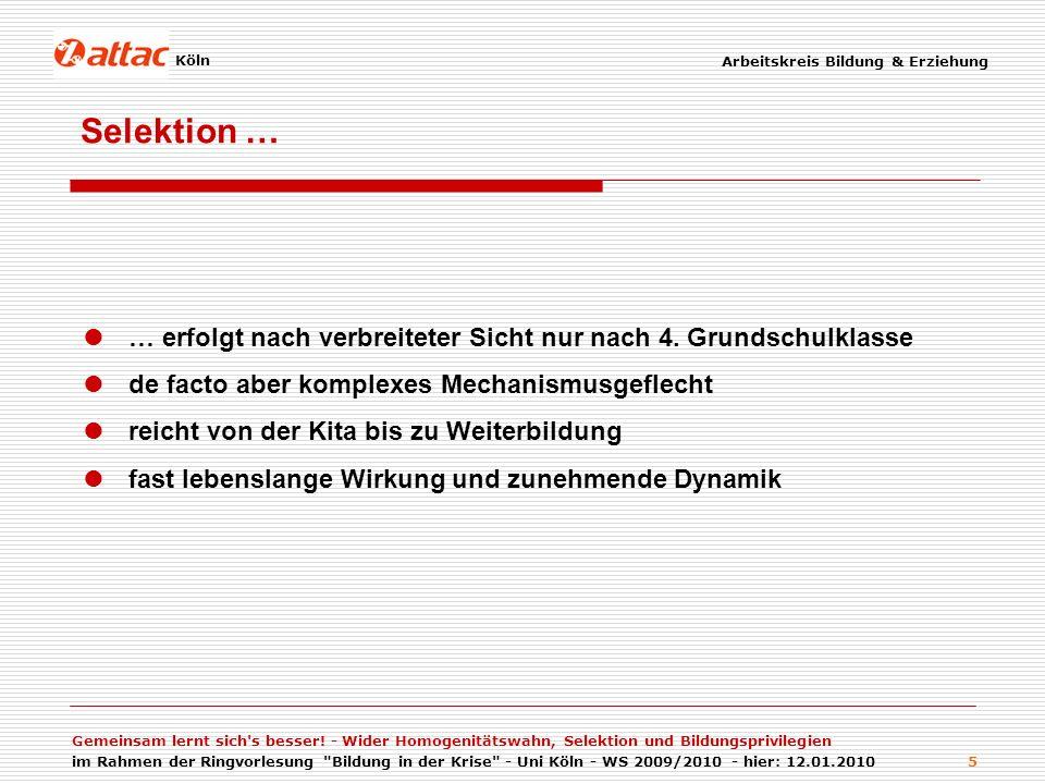 Arbeitskreis Bildung & Erziehung Workshop: Klassenkampf im Klassenzimmer - Bildung, Erziehung und Jugend in Deutschland - Misere zwischen Traditionalismus und Neoliberalismus 6 Die Ergebnisse der 18.