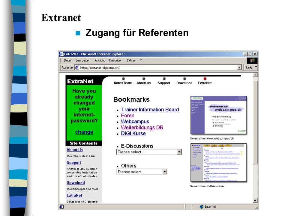 Zugang für Referenten Extranet