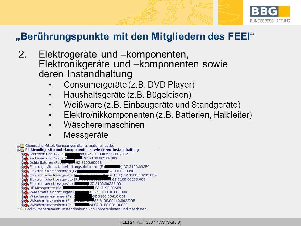 FEEI 24. April 2007 / AS (Seite 19) Die BBG steht für genaue aber faire Verhandlungsverfahren!