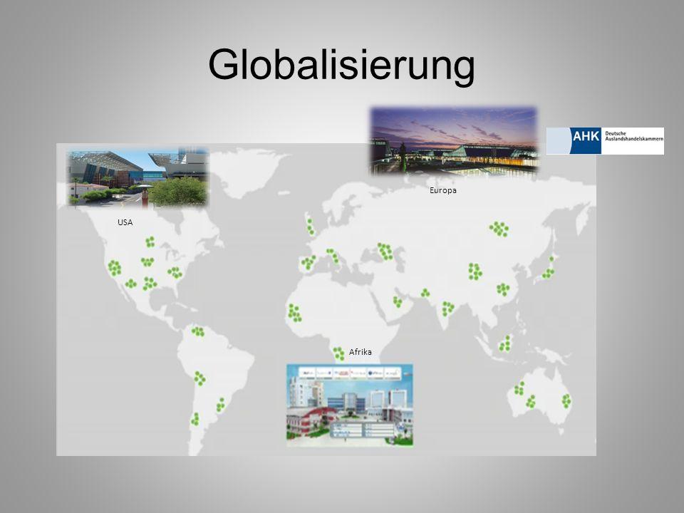 Globalisierung USA Europa Afrika