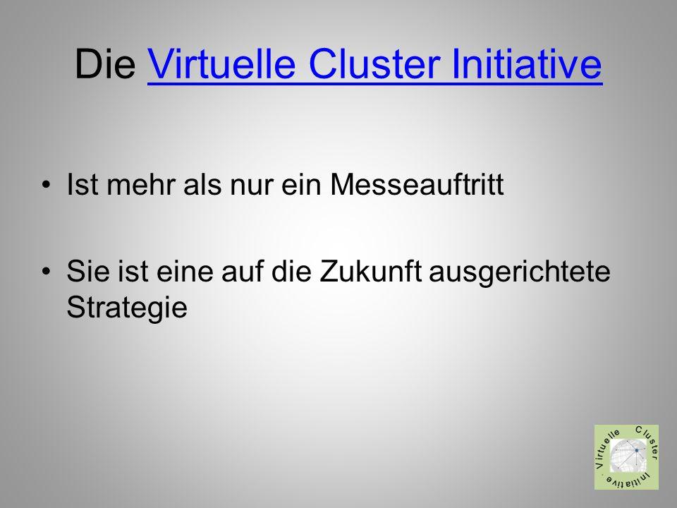 Die Virtuelle Cluster InitiativeVirtuelle Cluster Initiative Ist mehr als nur ein Messeauftritt Sie ist eine auf die Zukunft ausgerichtete Strategie
