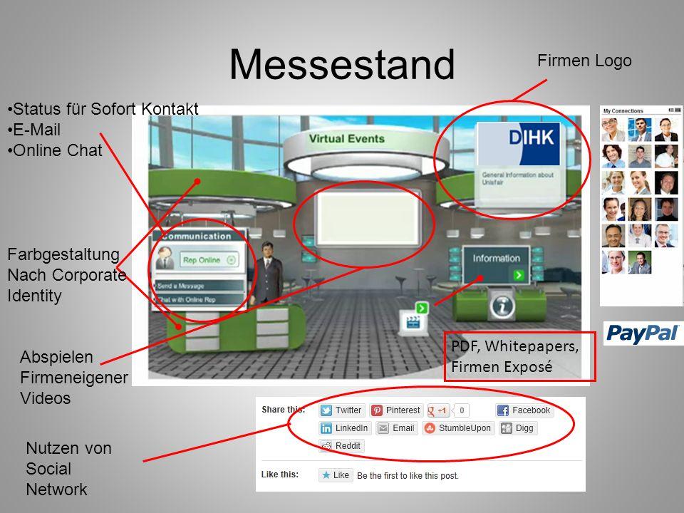 Messestand Status für Sofort Kontakt E-Mail Online Chat Firmen Logo Abspielen Firmeneigener Videos Farbgestaltung Nach Corporate Identity PDF, Whitepa