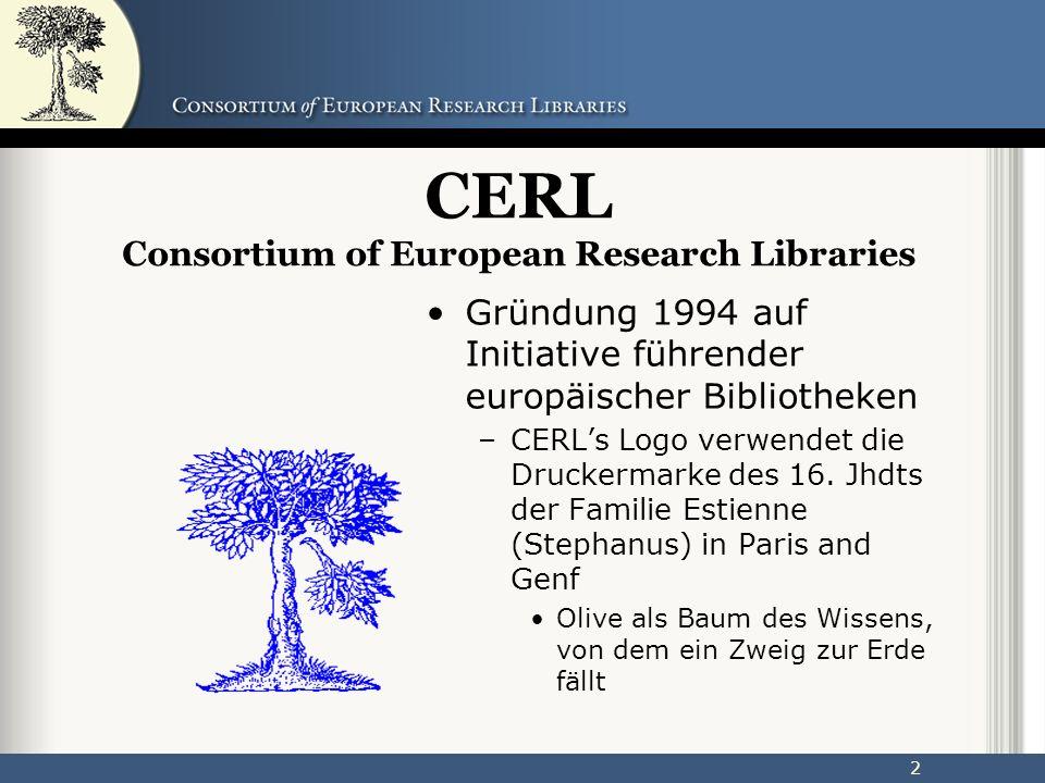 23 Ergebnis CERL Portal