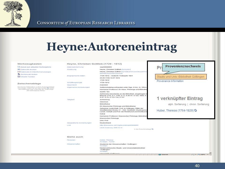 40 Heyne:Autoreneintrag Provenienznachweis