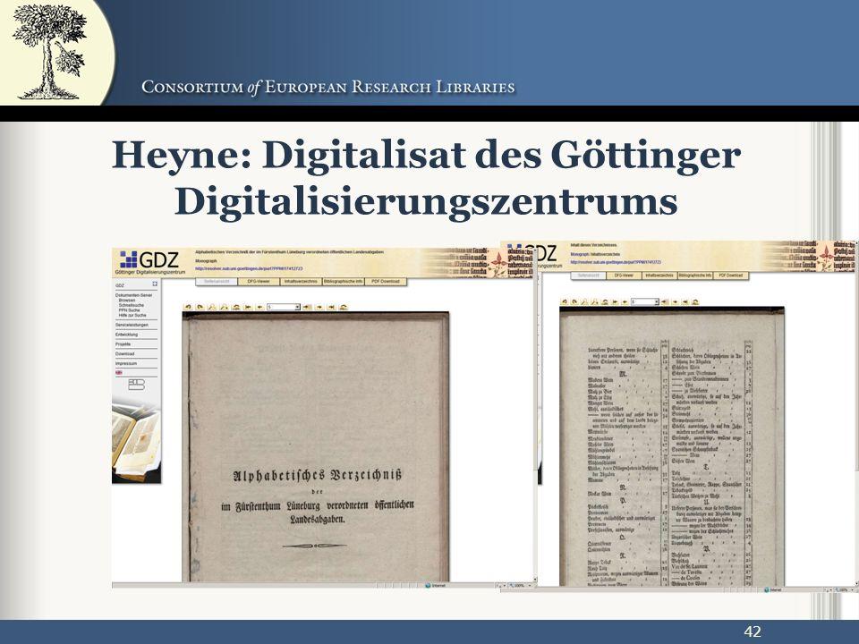 42 Heyne: Digitalisat des Göttinger Digitalisierungszentrums