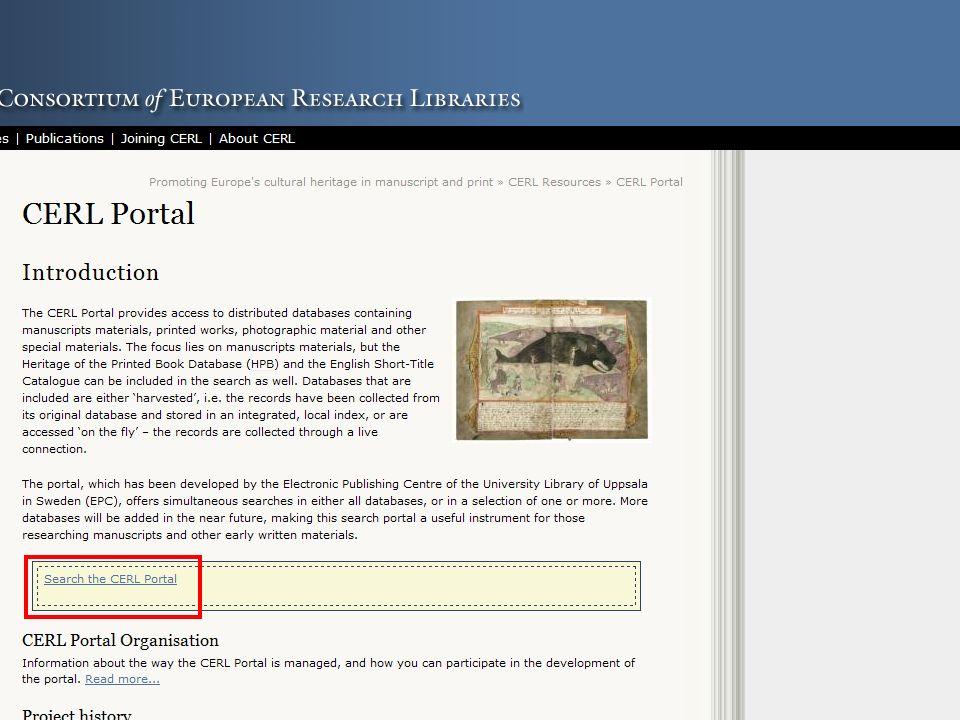 50 CERL - Thesaurus: Recherche nach Druckern und Druckermarken Suche im Thesaurus nach Druckern und Druckerzeichen