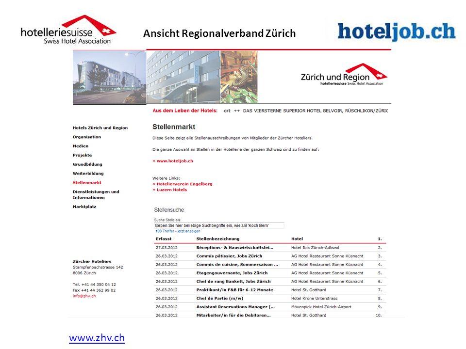 www.zhv.ch Ansicht Regionalverband Zürich