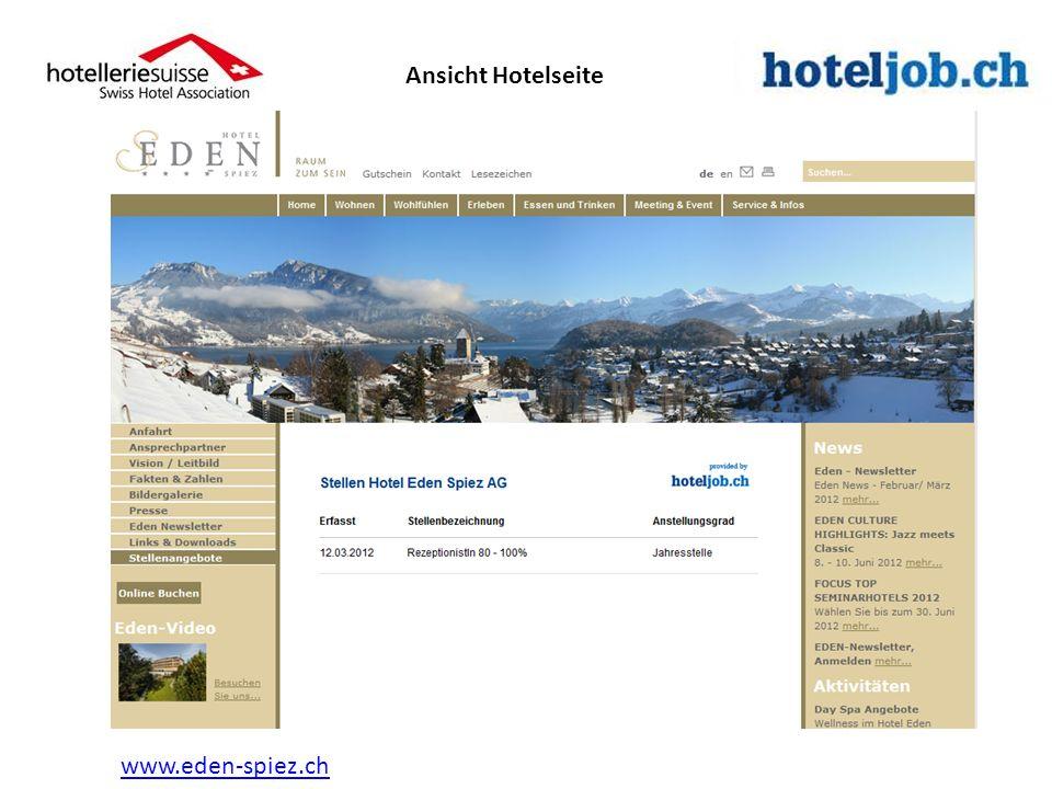 www.eden-spiez.ch Ansicht Hotelseite