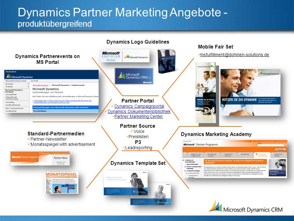 Dynamics Partner Marketing Angebote - produktübergreifend Dynamics Logo Guidelines Standard-Partnermedien Partner-Newsletter Monatsspiegel with advert