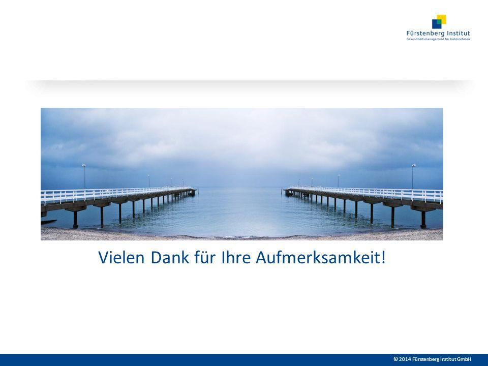 © 2014 Fürstenberg Institut GmbH Vielen Dank für Ihre Aufmerksamkeit!