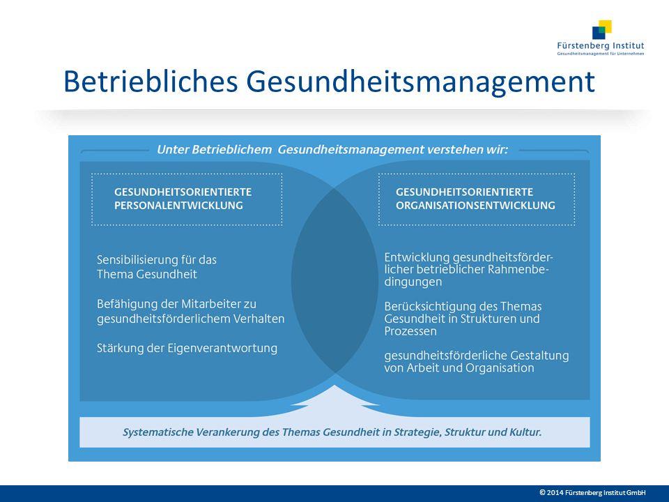© 2014 Fürstenberg Institut GmbH Betriebliches Gesundheitsmanagement