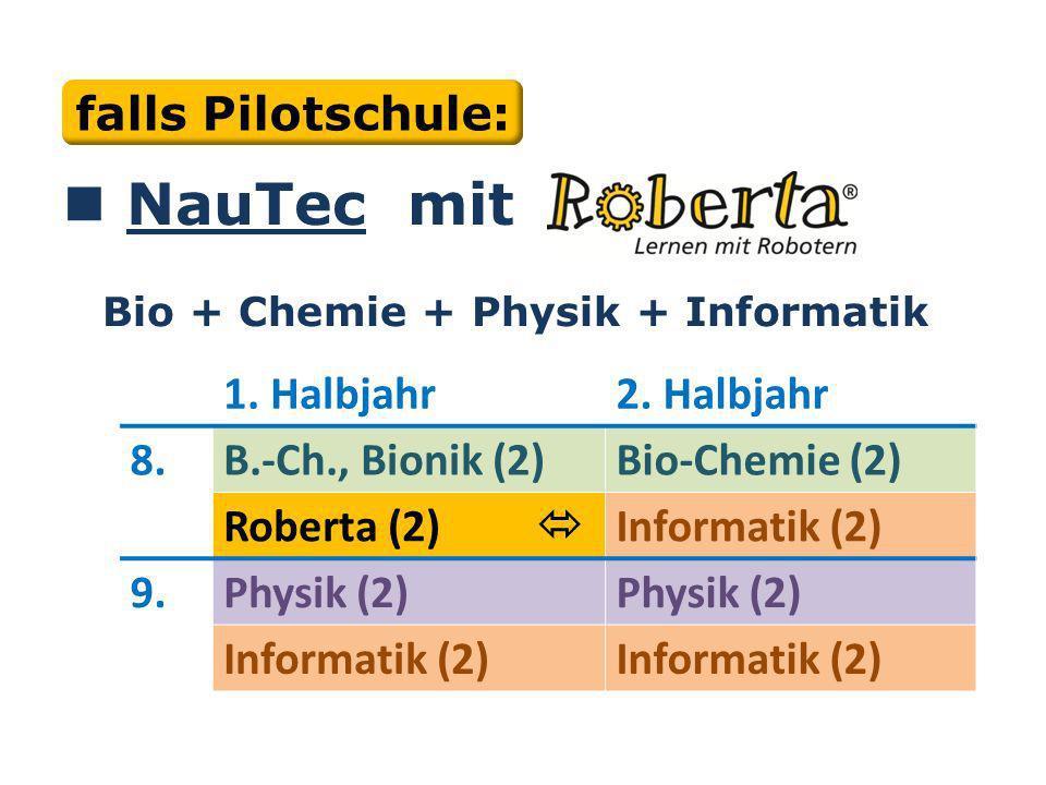 Bei Bewilligung: NauTec mit Bio + Chemie + Physik + Informatik 1.